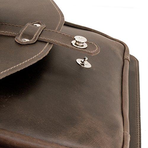 Aktentasche VIENNA aus braunem Leder inkl. Lederpflege - THIELEMANN Handmade in Germany