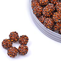 iCherry(TM) 10mm 100pcs/Lot Brown Clay Pave Disco Ball for Rhinestone Crystal Shamballa Beads Charms Jewelry Makings