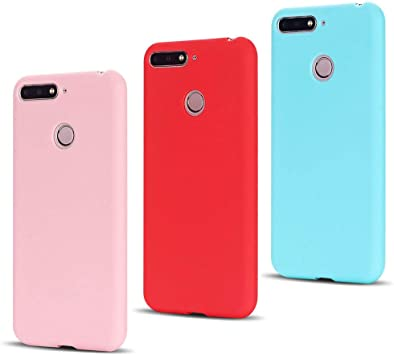 Leton 3X Funda Huawei Honor 7A Silicona Ultrafina Suave Flexible ...
