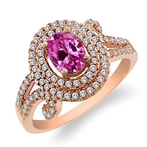 225-ct-oval-pink-created-sapphire-925-rose-gold-plated-silver-womens-ring