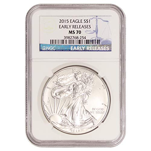 2015 American Silver Eagle $1 MS70 NGC Early Releases