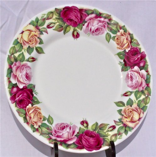 Fine English Bone China Salad Plate Garden Rose Chintz - ()