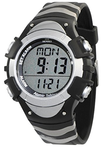 ATOMIC! Digital Talking -5 SENSES Unisex Atomic Talking Watch (1269)