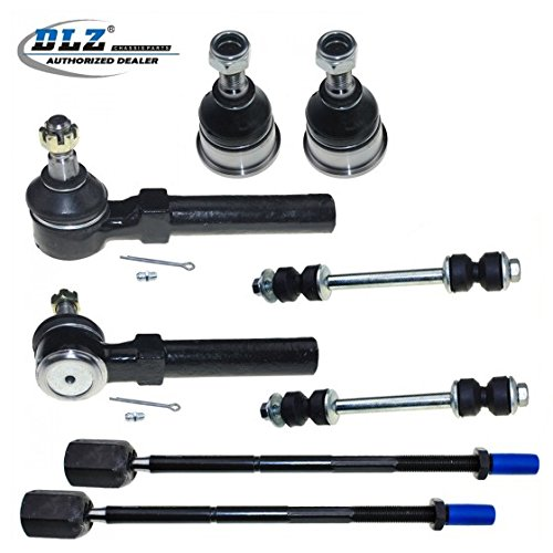 DLZ 8 Pcs Suspension Kit-2 Front Lower Ball Joint 2 Outer 2 Inner Tie Rod End 2 Rear Sway Bar Link Kit Compatible with 1994 1995 1996 1997 1998 1999 2000 2001 2002 2003 2004 Ford Mustang K8749 EV127
