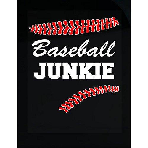 Junkie Baseball (Baseball Junkie Funny Great Gift For Any Baseball Fan - Sticker)