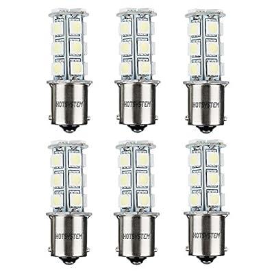 HOTSYSTEM 1156 18 LED SMD Light Bulbs For RV SUV MPV Car Turn Tail Signal Brake Light Lamp Backup Lamps White