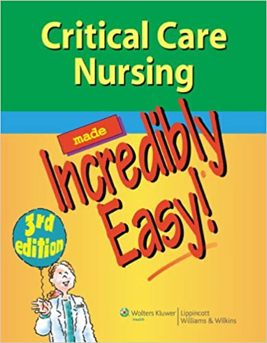 download critical care nursing made incredibly easy incredibly easy series reg