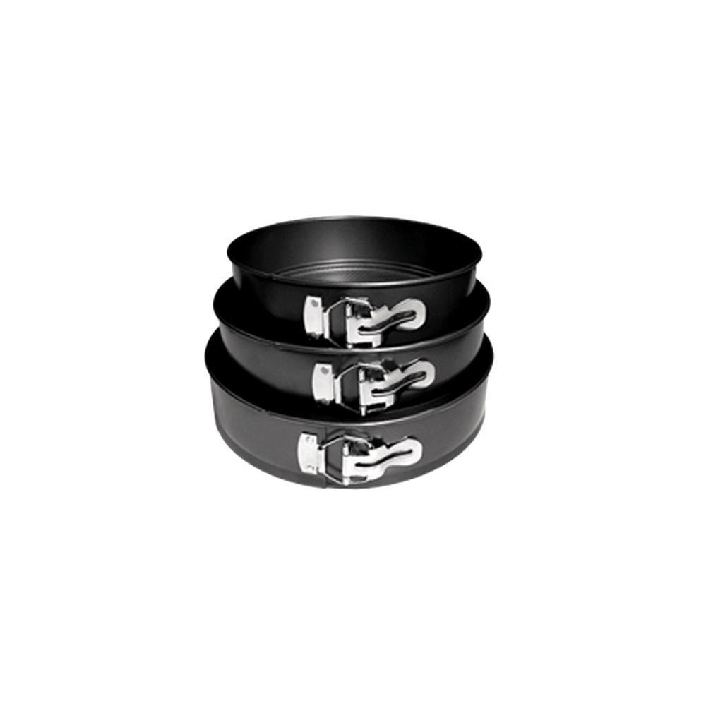 3 Piece Non-Stick Spring Form Cake Pan Set Update International 00-S6PL0W-69