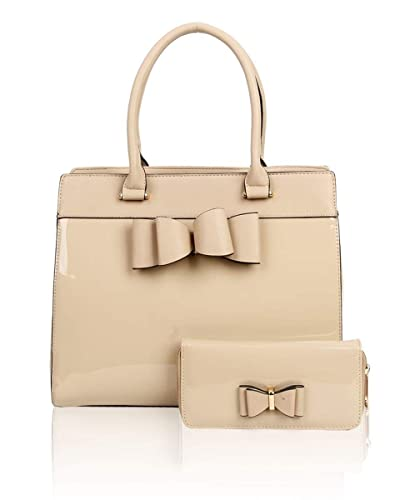 7263651bee6 LeahWard Women's Large Bow Or Belt Bag Two In One Handbag With Matching  Purse (Almond): Amazon.co.uk: Shoes & Bags