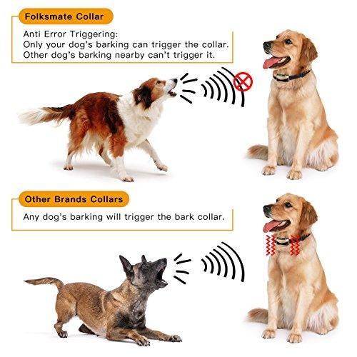 Bark-Collar-Folksmate-2018-Upgrade-Version-Dog-Training-Collar-Upgrade-7-Sensitivity-USB-Rechargeable-Waterproof-No-Bark-Collar-with-Vibration-and-No-Harm-Shock-for-Small-Medium-Large-Dog