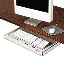 Innovera 53000 Standard Underdesk Keyboard Drawer, 24-1/4w x 15-1/3d, Light Gray