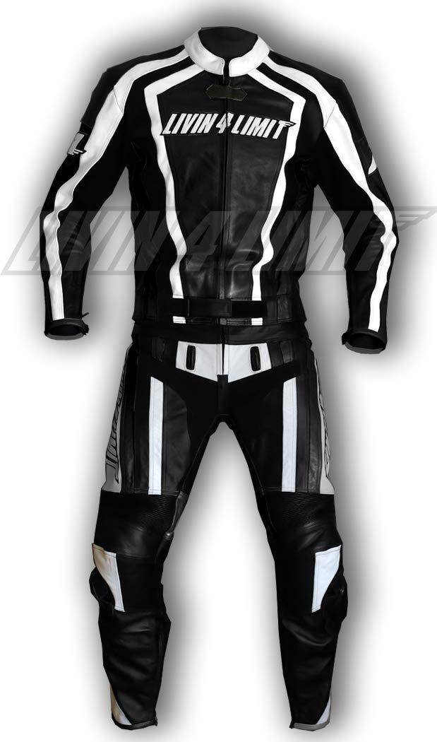 4LIMIT Sports 200100001406 Traje para Moto de Cuero, Negro ...