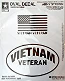 Vietnam Veteran War 2-Pack EURO STYLE Vinyl Oval Home Auto Decals Sticker United States US Military