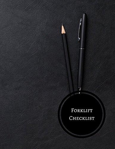 Download Forklift Checklist: Forklift Maintenance Log pdf epub