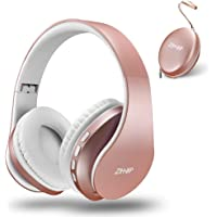 Bluetooth Over-Ear Headphones, Zihnic Foldable Wireless and Wired Stereo Headset Micro SD/TF, FM for iPhone/Samsung/iPad…