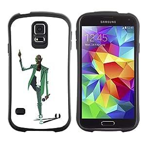 Suave TPU GEL Carcasa Funda Silicona Blando Estuche Caso de protección (para) Samsung Galaxy S5 / CECELL Phone case / / Man Music Microphone Singer Art Drawing /