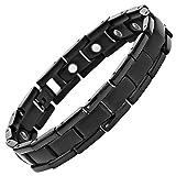 Willis Judd New Mens Black Titanium Magnetic Bracelet in Velvet Box with Free