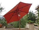 7ft wooden market umbrella with tilt mechanism - TERRA COLOR