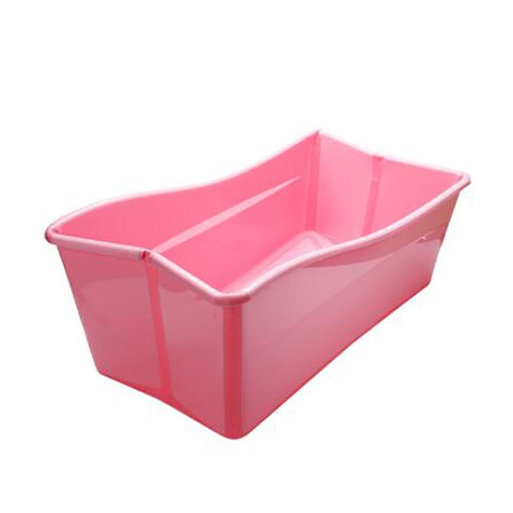 Qian Niños grandes bañera de bebé plegable pueden sentarse bañera mentira wexe.com