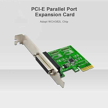 Walmeck- Tarjeta de expansión Puerto Paralelo PCI-E Adaptador ...