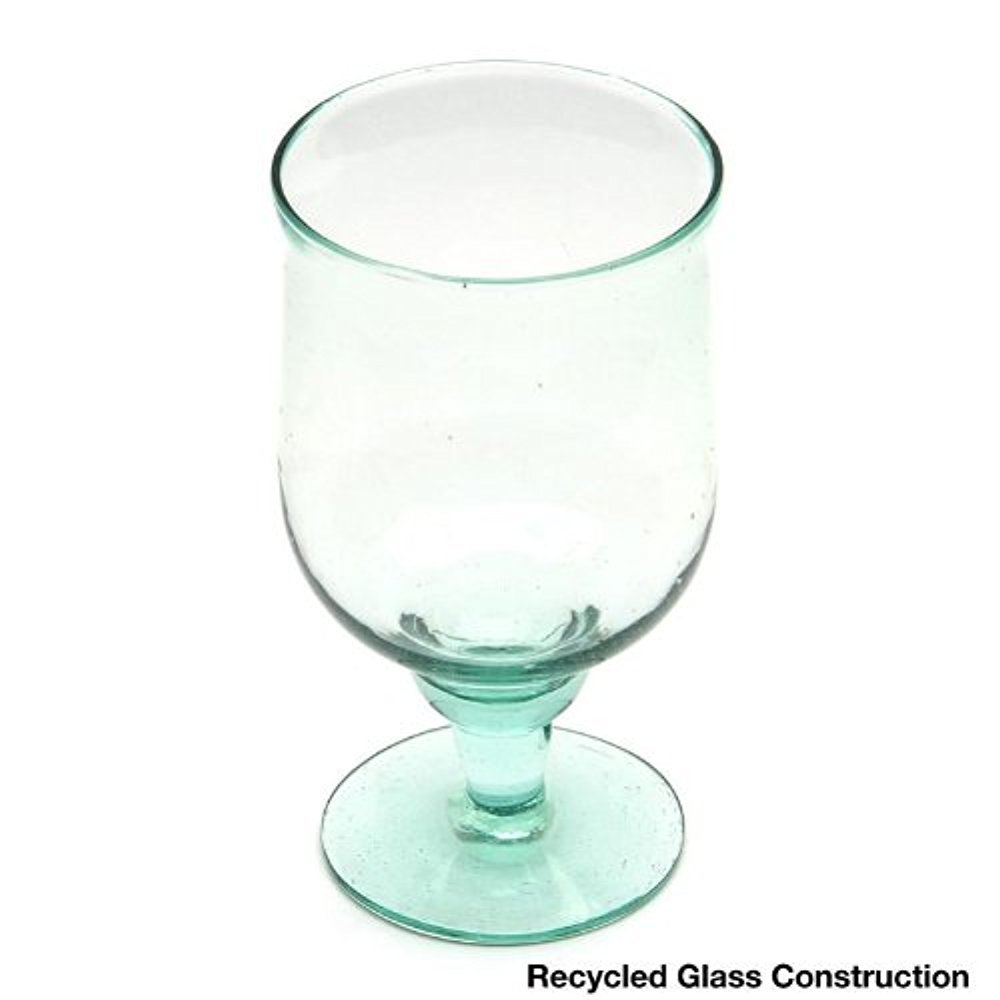Large Recycled Water Goblets, Set of 6
