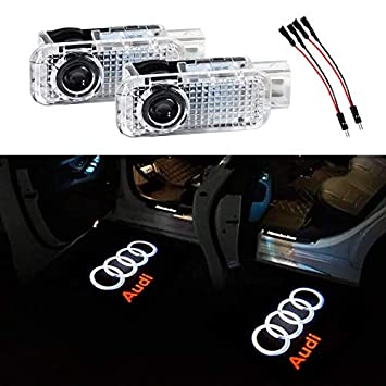 KRADA Car Door Logo Light LED Projector Ghost Shadow Welcome Lights for Mercedes Benz Emblem Courtesy Step Lights Kit Replacement 4 Pack