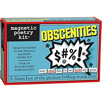 Magnetic Poetry - Obscenities Kit - Words for Refrigerator - Write Poems and Letters on the Fridge - Made in the USA