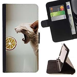 Momo Phone Case / Flip Funda de Cuero Case Cover - Sphynx Oriental Gato sin piel Raza Lollipop; - MOTOROLA MOTO X PLAY XT1562