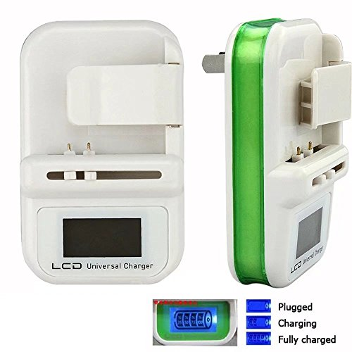 JahyShow Universal Cell Phone Camera Li-ion Battery Wall Travel Charger w/ LCD Screen USB