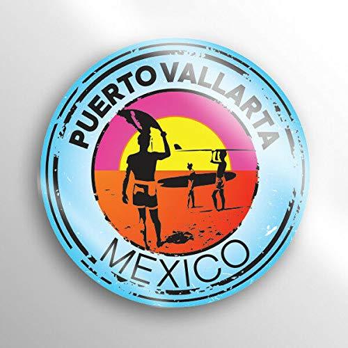 (JB Print Puerto Vallarta Mexico Swim Boat Kayak Water Ski Surf Travel Vinyl Decal Sticker Car Waterproof Car Decal Bumper Sticker 5
