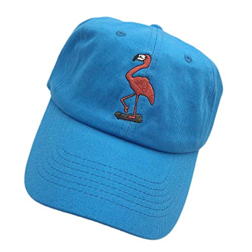 97ec8506f89c Shengyuan Baseball Cap Flamingo Small Embroidered Dad Hats Adjustable  Snapback Cotton Hat Unisex Sky Blue. by shengyuan lin
