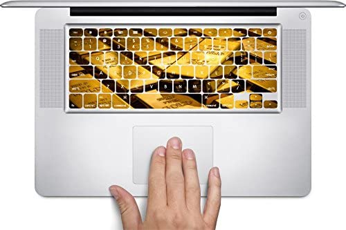 by Demon Decal Gold Bars Macbook Keyboard Decals Fits 12 inch