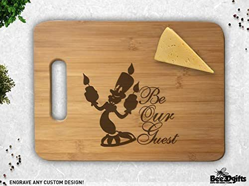 Be Our Guest Beauty and The Beast Engraved Cutting Board