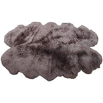 Amazon Com Windward Natural Sheepskin Plush Area Rug