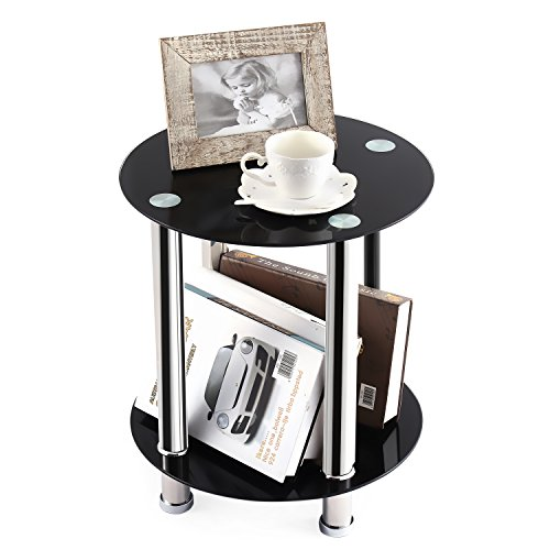 round chrome coffee table - 5