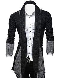 Men's Classic Fashion Marled Open-Front Shawl Collar Cardigan