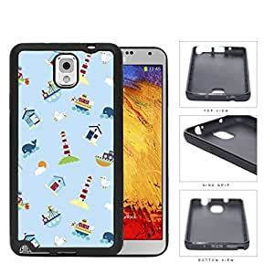 Nautical Lighthouse Ship Boat Whales Rubber Silicone TPU Cell Phone Case Samsung Galaxy Note 3 III N9000 N9002 N9005