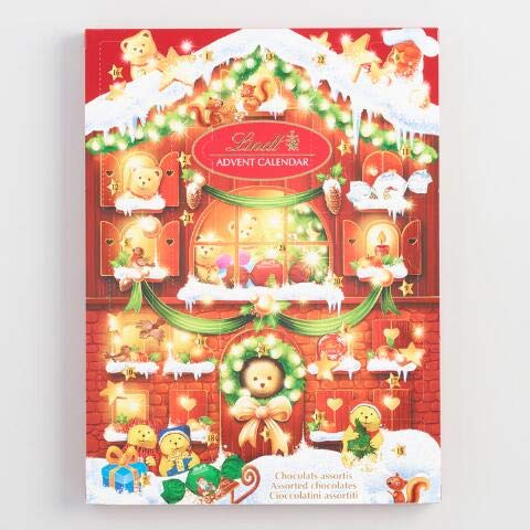 Lindt Chocolate 2019 Bear Christmas Advent Calendar, 24 Piece 6.1 oz