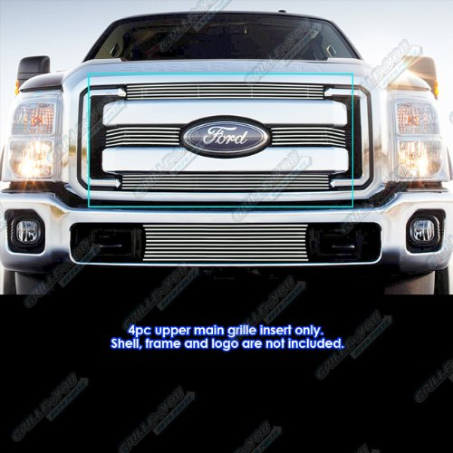 Fits 2011-2016 Ford F-250/F-350/Lariat/King Ranch/XLT Billet Grille Insert #F66827A