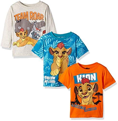- Disney Little Boys' Toddler Lion Guard 3 Pack T-Shirts, Beige, 4T