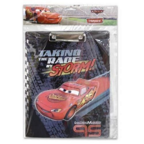 Cars Clip Board - Disneys Lightning Mcqueen Action Scene Clip Board