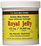 YS Eco Bee Farms Active Bee Power - Royal Jelly, Bee Pollen, Propolis, Ginseng in Honey - 36,000 mg - 20.3 oz (Pack of 3)
