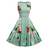 Women's Vintage 1950's Floral Party Cocktail Rockabilly Swing Dress