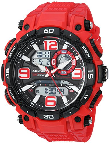 Armitron Sport Men's 20/5270RED Analog-Digital Chronograph Red Resin Strap Watch