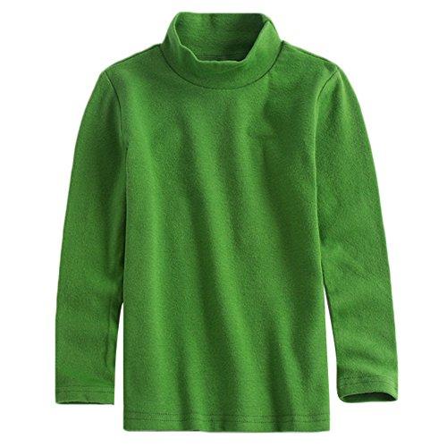 KISBINI Unisex Toddler Boys Long Sleeve Cotton Tees Kids T-Shirt Tops Green 7T