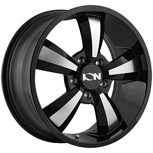ION 102 Wheel with Gloss Black/Machined Face (18 x 8. inches /5 x 84 mm, 50 mm Offset