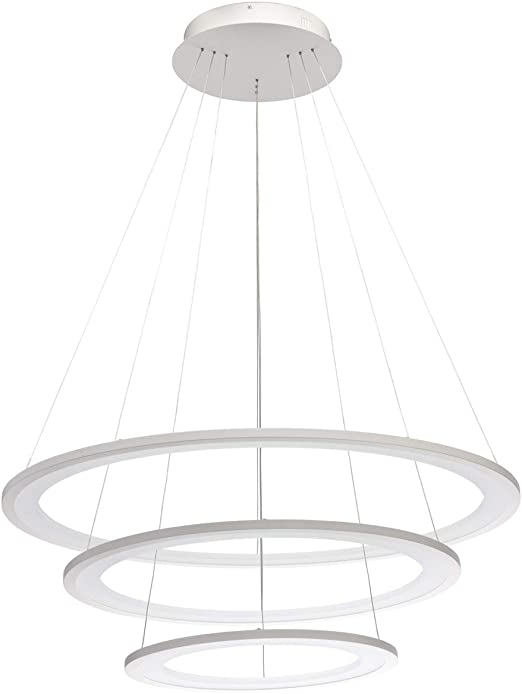 RegenBogen 661016703 Lustre Suspension 3 Cercles LED en