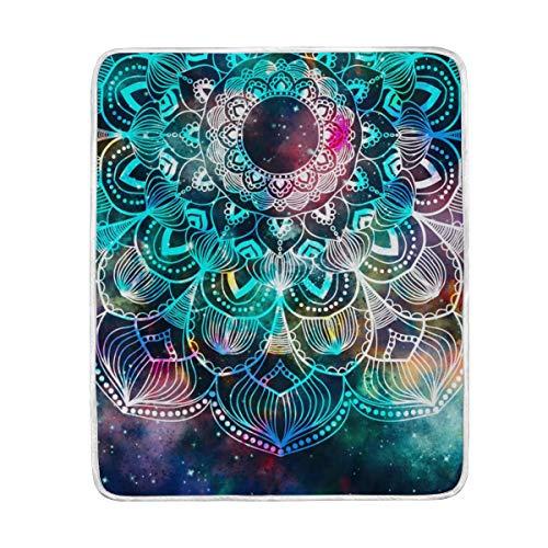 DOSHINE Couvre-lit, Galaxy Nebula Star Mandala Doux léger Warmer couvertures 127 x 152,4 cm pour canapé lit Chaise de Bureau
