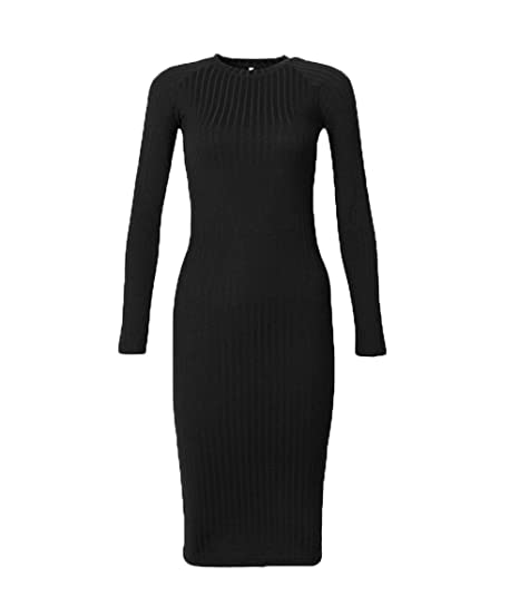 fcbd5db9a3f Women s Solid Long Sleeve Bodycon Ribbed Knitted Casual Turtleneck Sweater  Dress Basic Dress For Woman Teen