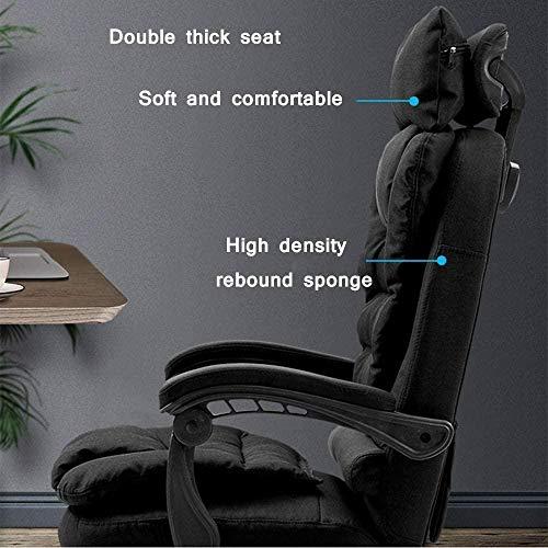Kontorsstol, tyg hög rygg dator skrivbord verkställande uppgift svängbar stol spelstol nackstöd knästol